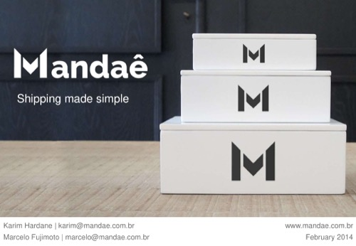 Mandae Series A pitch deck
