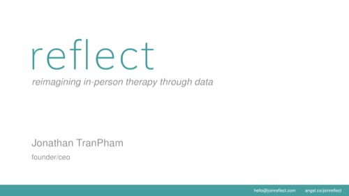 Reflect Seed pitch deck